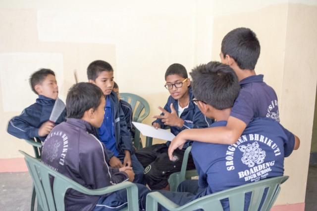 © Clara.Go-Folktales workshop a Srongtsen Bhrikuti Boarding High School.
